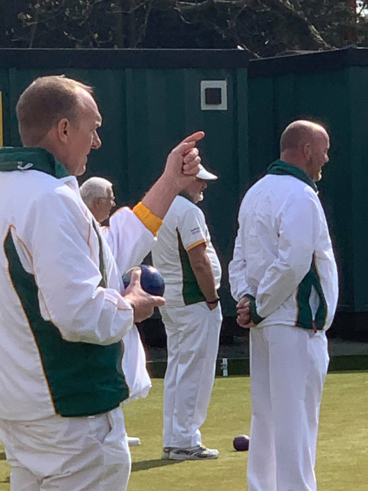 A group of male bowlers