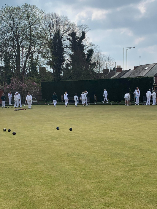a bowls game in action