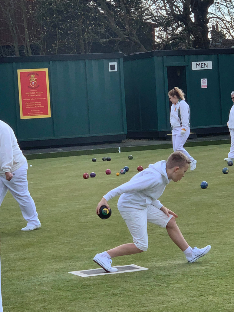 young bowlers in action