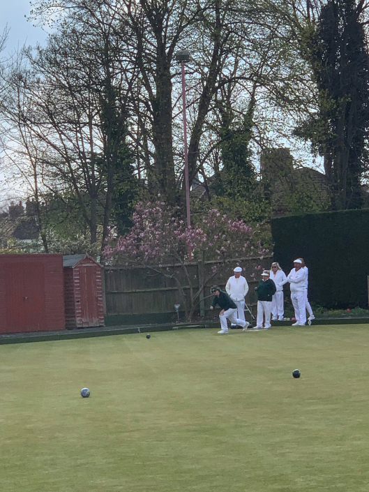 a bowls game taking place